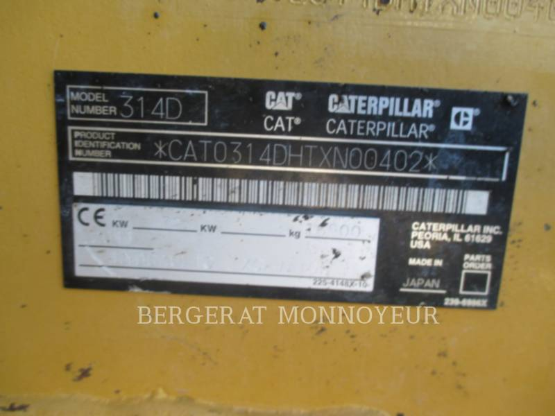 Caterpillar EXCAVATOARE PE ŞENILE 314D equipment  photo 2
