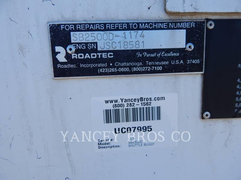 ROADTEC ASPHALT PAVERS SB2500D equipment  photo 2