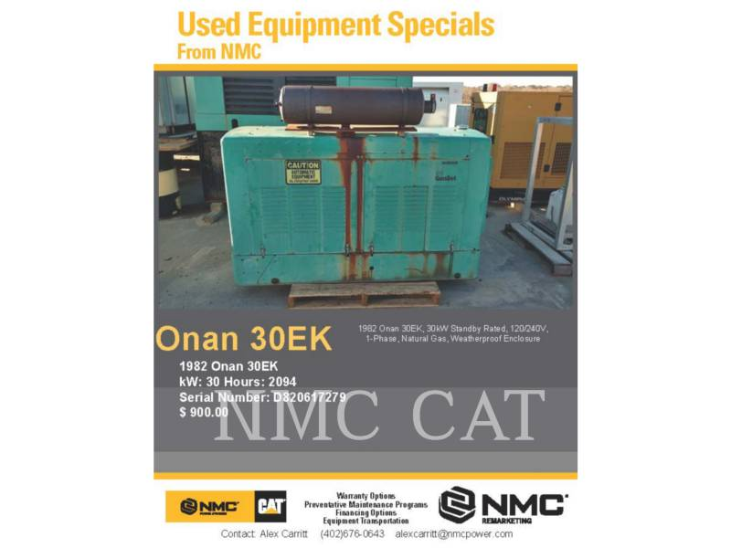ONAN STATIONARY GENERATOR SETS 30EK_ON equipment  photo 5
