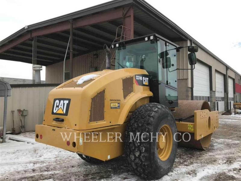 CATERPILLAR VIBRATORY SINGLE DRUM SMOOTH CS74B equipment  photo 3