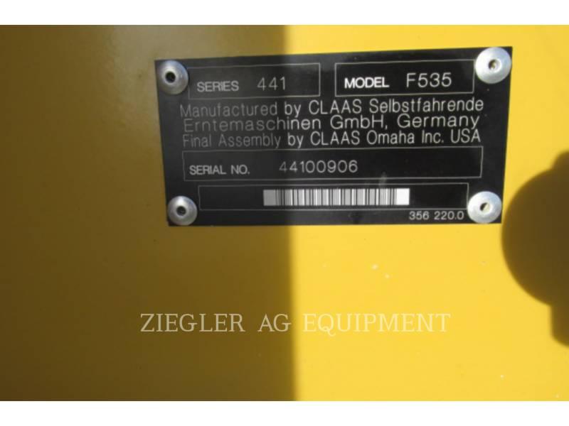 LEXION COMBINE HEADERS F535 equipment  photo 2