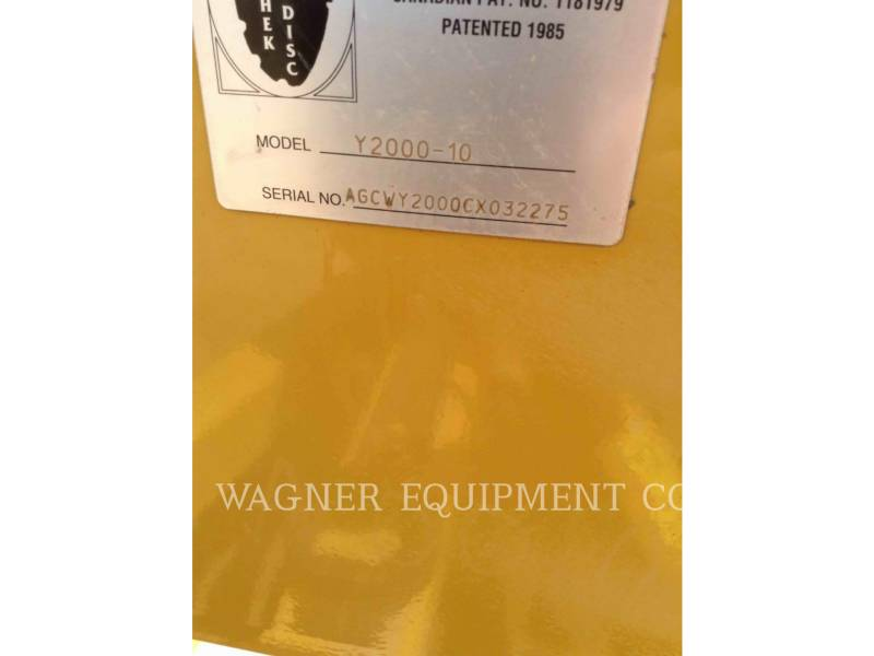 WISHEK STEEL MFG  DISC RIPPER Y2000-10 equipment  photo 9