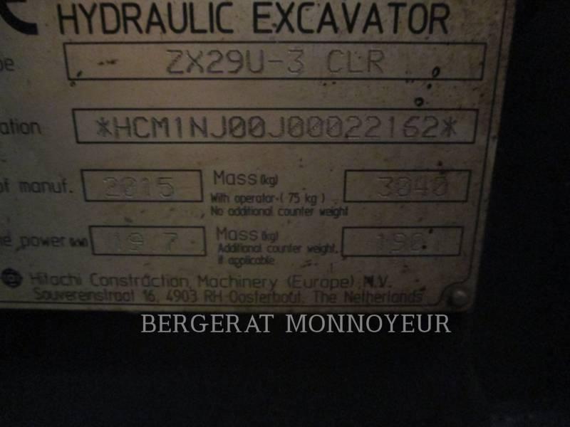 HITACHI TRACK EXCAVATORS ZX29 equipment  photo 14