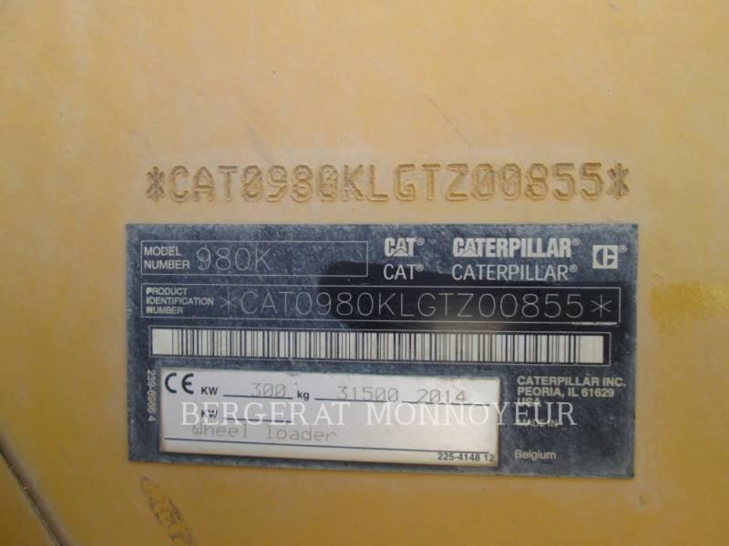 CATERPILLAR RADLADER/INDUSTRIE-RADLADER 980K equipment  photo 15
