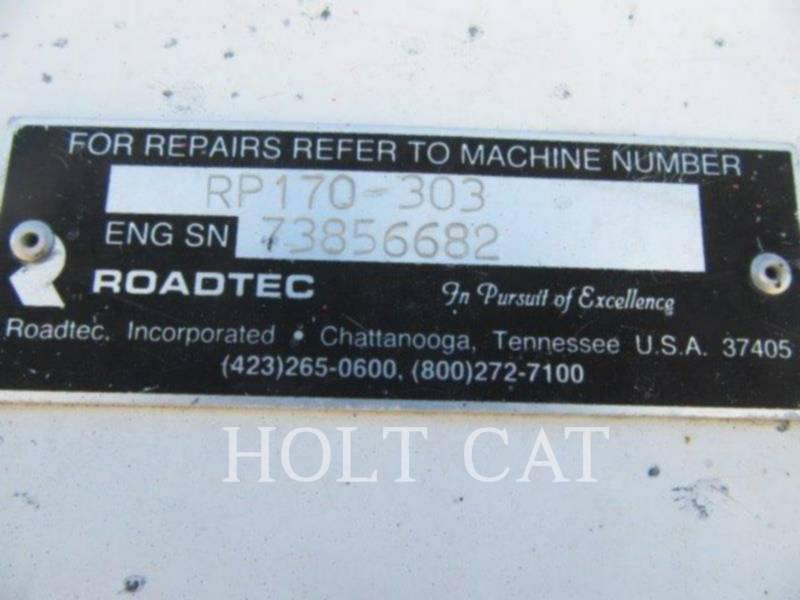 ROADTEC SCHWARZDECKENFERTIGER RB170 equipment  photo 5