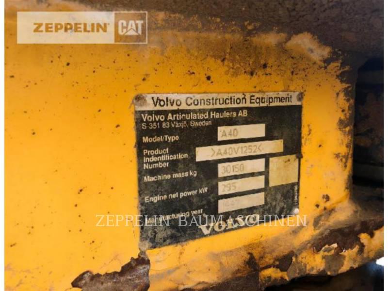 VOLVO CONSTRUCTION EQUIPMENT OFF HIGHWAY TRUCKS A40 equipment  photo 5