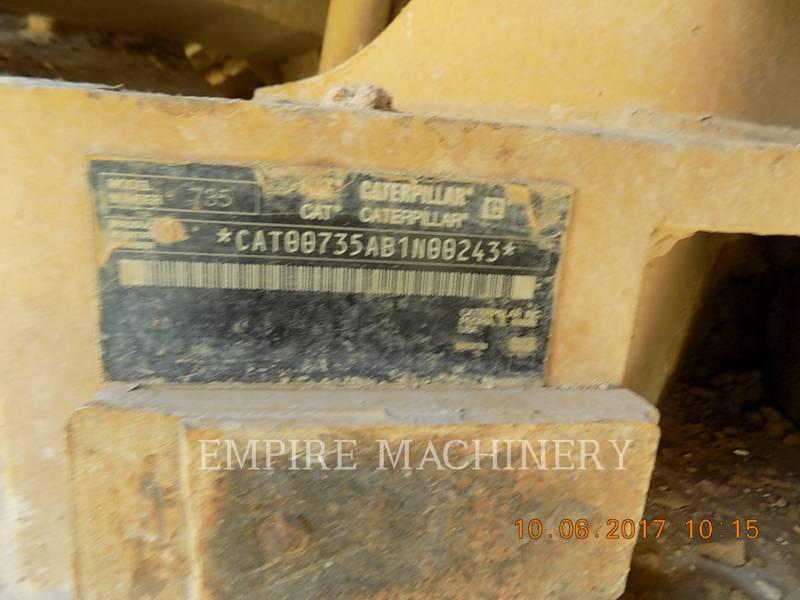 CATERPILLAR KNICKGELENKTE MULDENKIPPER 735 equipment  photo 13