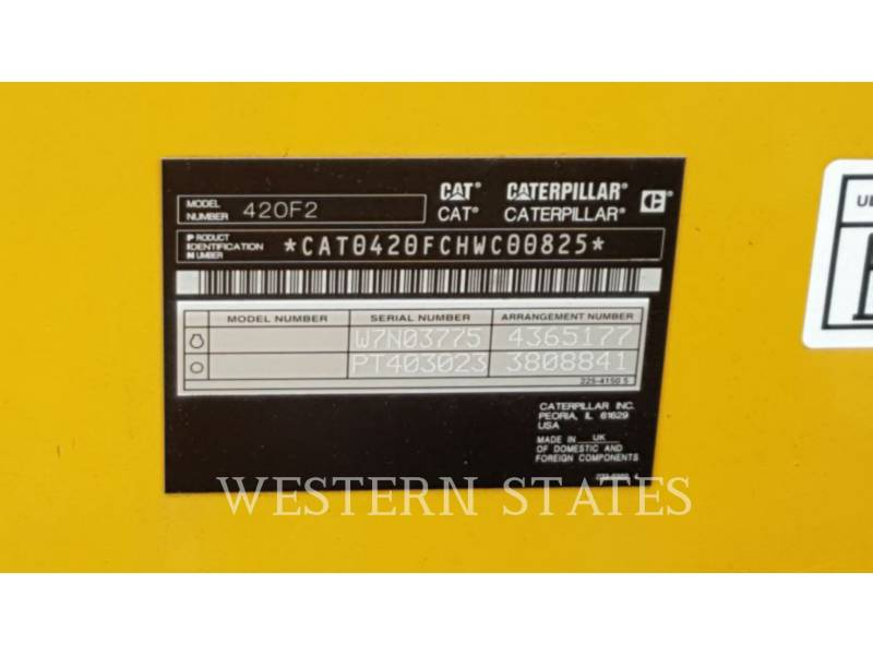 CATERPILLAR RETROESCAVADEIRAS 420F2 equipment  photo 17