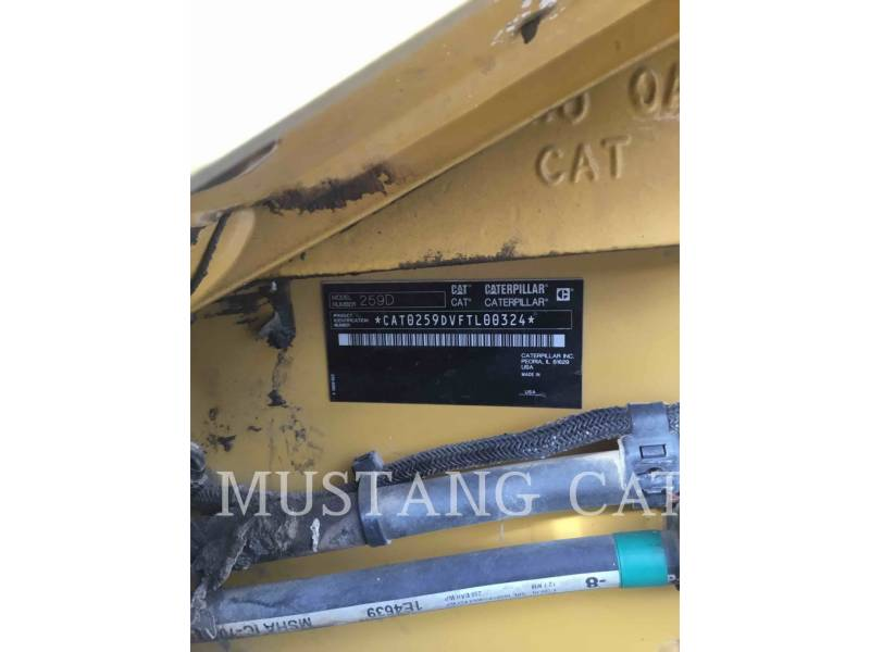 CATERPILLAR CHARGEURS TOUT TERRAIN 259D equipment  photo 5