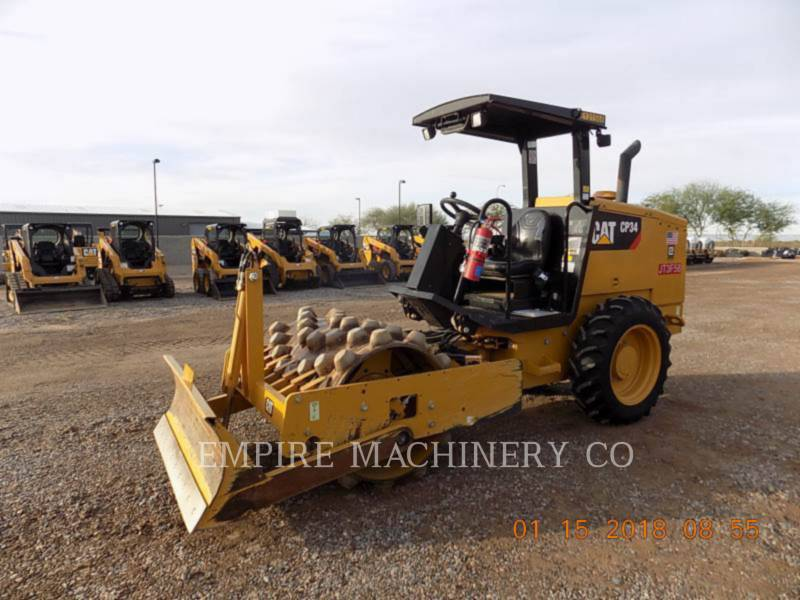 CATERPILLAR COMPATTATORE A SINGOLO TAMBURO VIBRANTE TASSELLATO CP34 equipment  photo 4