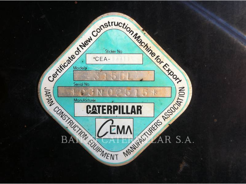 CATERPILLAR EXCAVADORAS DE CADENAS 315DL equipment  photo 18