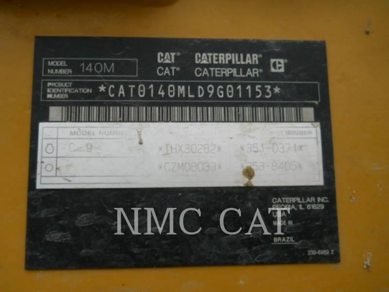 CATERPILLAR NIVELEUSES 140M equipment  photo 6