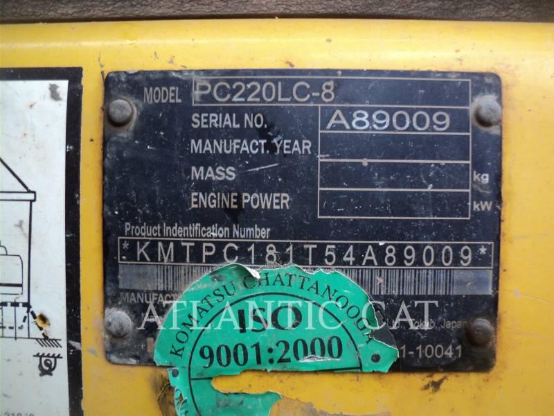 KOMATSU EXCAVADORAS DE CADENAS PC 220 LC-8 equipment  photo 2