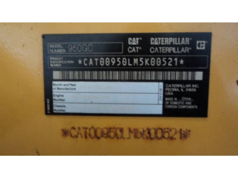 CATERPILLAR CHARGEURS SUR PNEUS/CHARGEURS INDUSTRIELS 950 GC equipment  photo 5