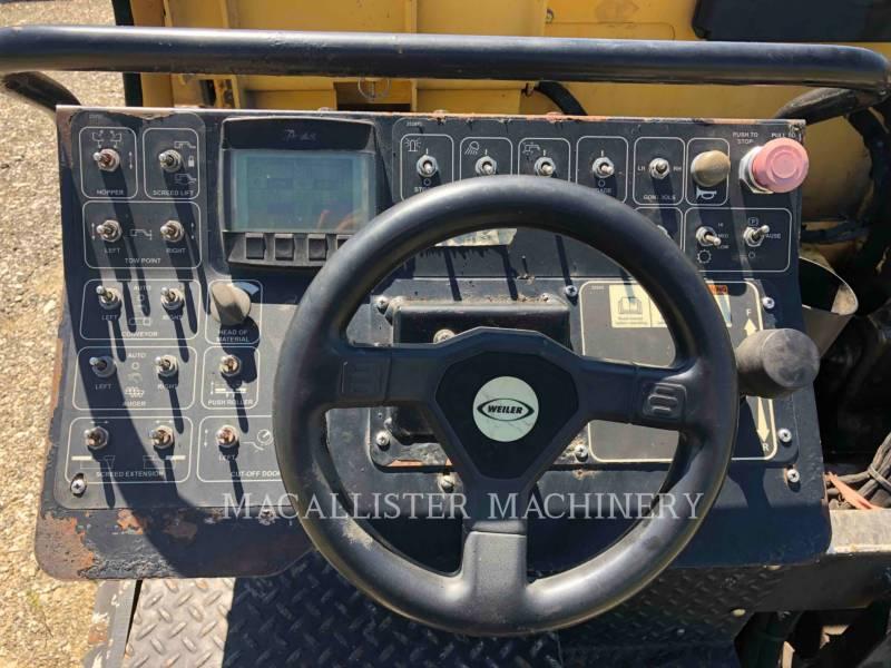 WEILER ASPHALT PAVERS P385 equipment  photo 10