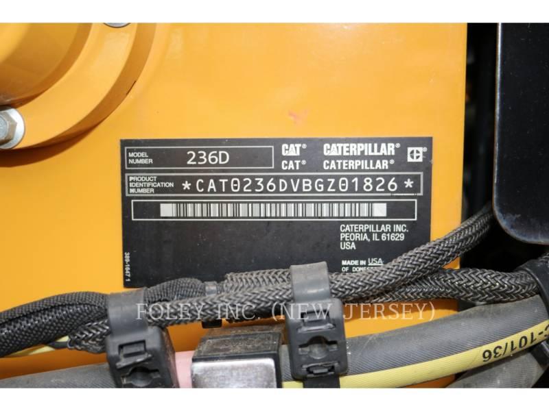 CATERPILLAR PALE COMPATTE SKID STEER 236D equipment  photo 12