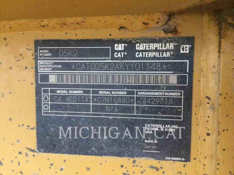 CATERPILLAR TRACTORES DE CADENAS D5K2L CAGSALT equipment  photo 8