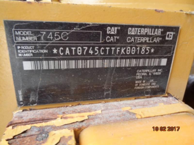 CATERPILLAR CAMIONES ARTICULADOS 745C equipment  photo 15