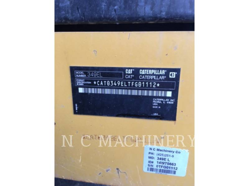 CATERPILLAR EXCAVADORAS DE CADENAS 349E L equipment  photo 8