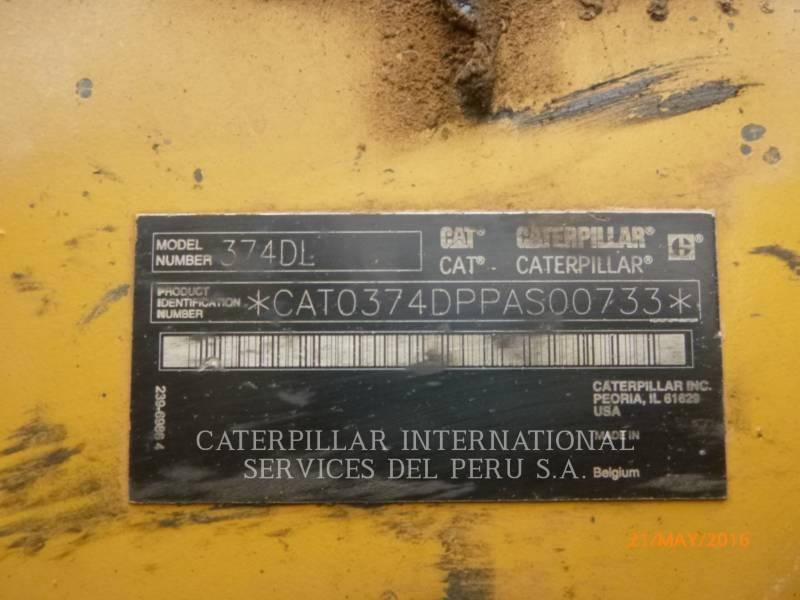 CATERPILLAR PELLES SUR CHAINES 374DL equipment  photo 5