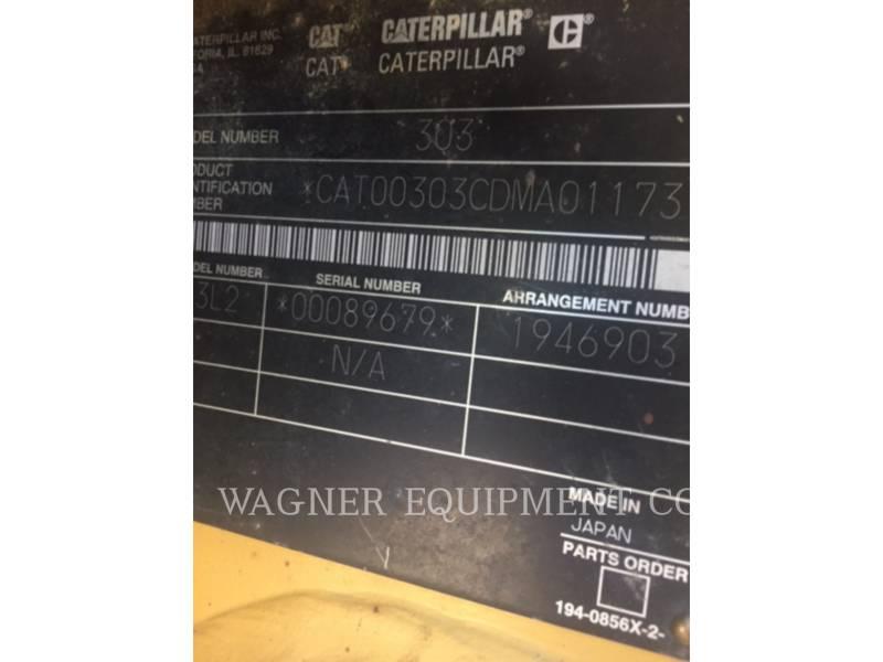 CATERPILLAR PELLES SUR CHAINES 303CR equipment  photo 6