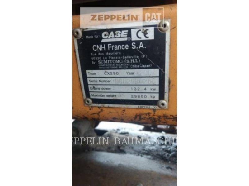 CASE トラック油圧ショベル CX290 equipment  photo 16