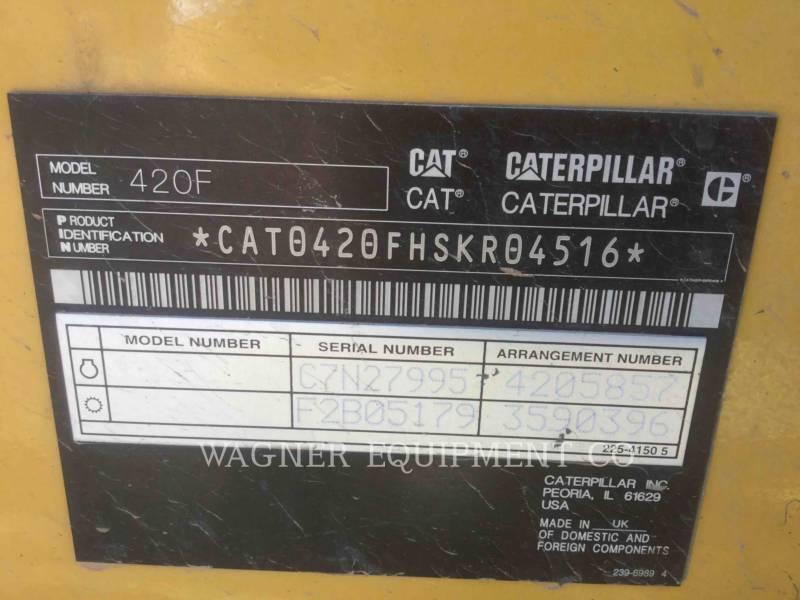 CATERPILLAR BAGGERLADER 420F 4WDE equipment  photo 10