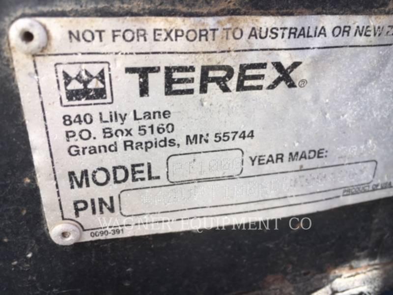TEREX CORPORATION PALE COMPATTE SKID STEER PT-100G equipment  photo 11
