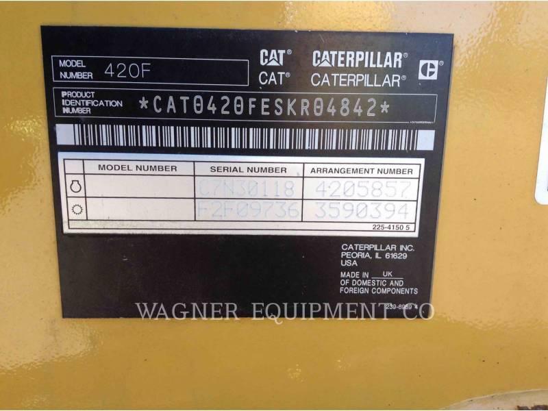 CATERPILLAR BACKHOE LOADERS 420F 4WDE equipment  photo 6