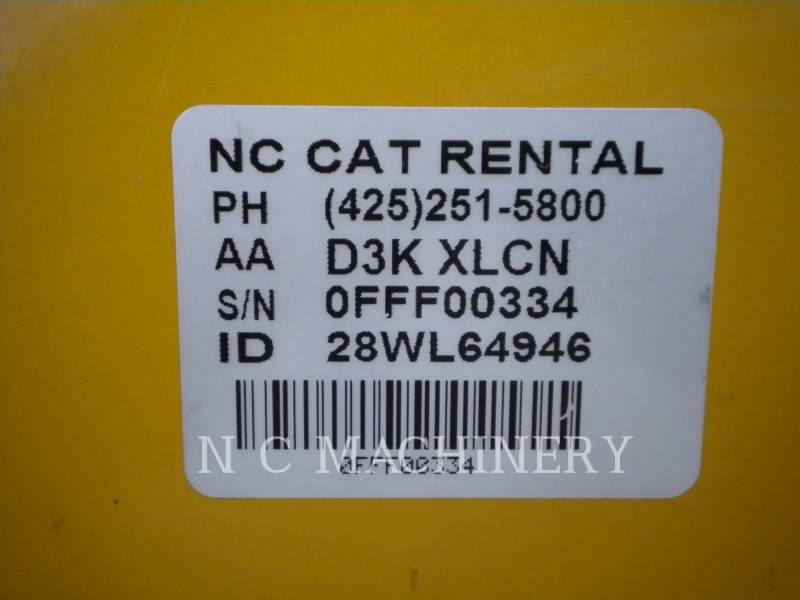 CATERPILLAR TRACTORES DE CADENAS D3K XLCN equipment  photo 2