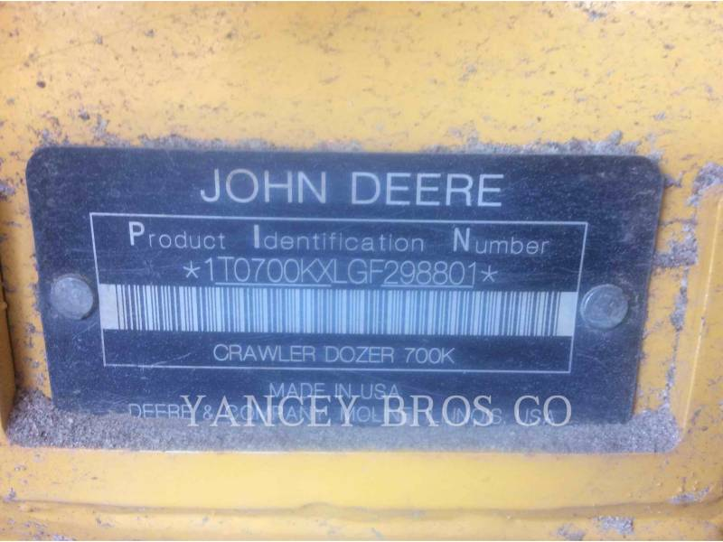 DEERE & CO. TRACK TYPE TRACTORS 700K equipment  photo 10