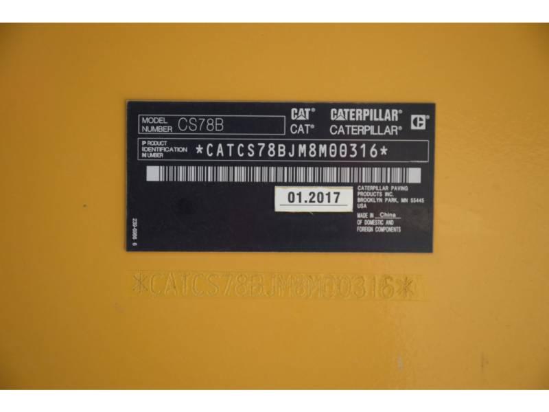 CATERPILLAR 振動シングル・ドラム・スムーズ CS78B equipment  photo 5