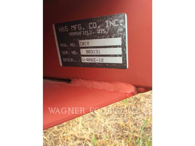 H&S MANUFACTURING CO. AG HAY EQUIPMENT CR12 equipment  photo 11