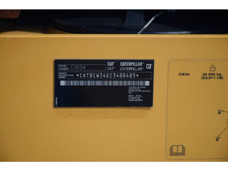 CATERPILLAR PNEUMATIC TIRED COMPACTORS CW 34 equipment  photo 6