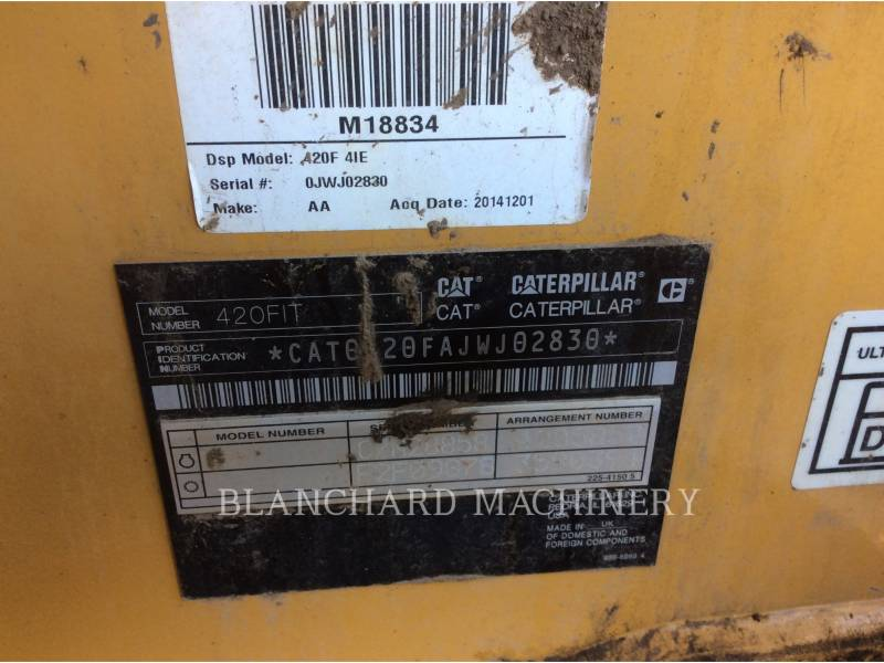 CATERPILLAR CHARGEUSES-PELLETEUSES 420 F IT equipment  photo 12