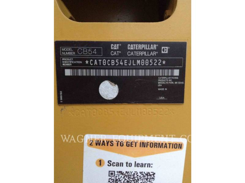 CATERPILLAR COMPACTADORES CB54 XW equipment  photo 5