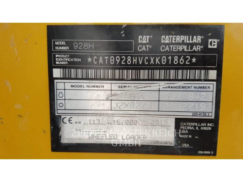 CATERPILLAR ŁADOWARKI KOŁOWE/ZINTEGROWANE NOŚNIKI NARZĘDZI 928 H Z equipment  photo 15