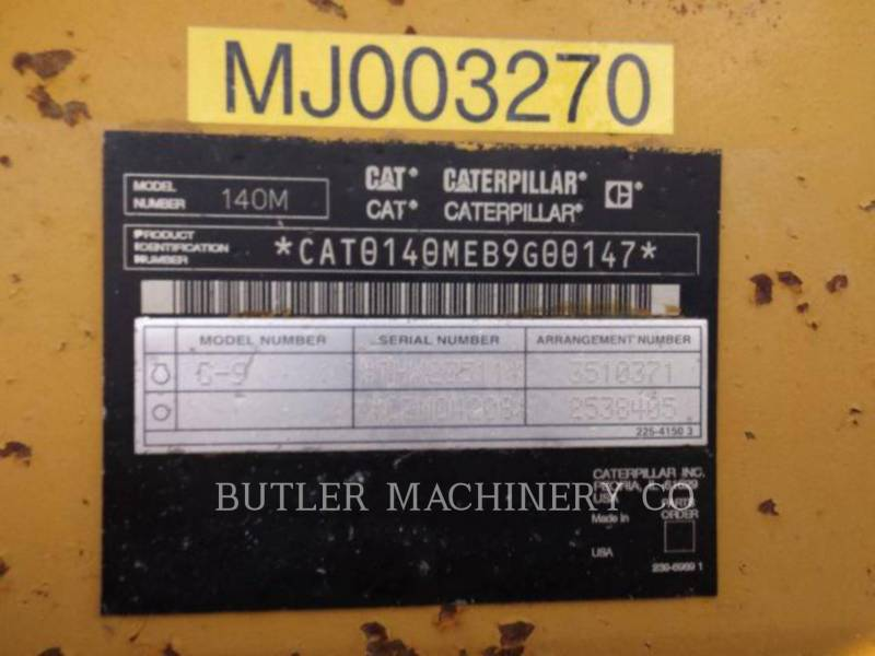 CATERPILLAR MOTOR GRADERS 140M AWD equipment  photo 8