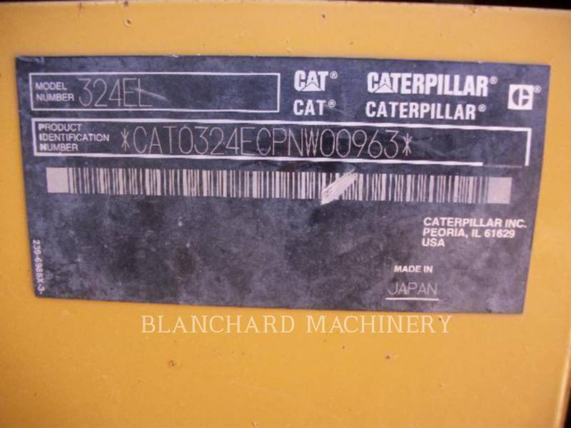 CATERPILLAR TRACK EXCAVATORS 324E RTNN equipment  photo 9