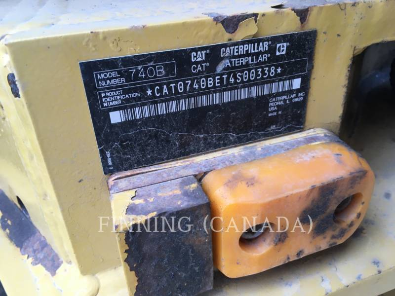 CATERPILLAR ARTICULATED TRUCKS 740BEJ equipment  photo 7