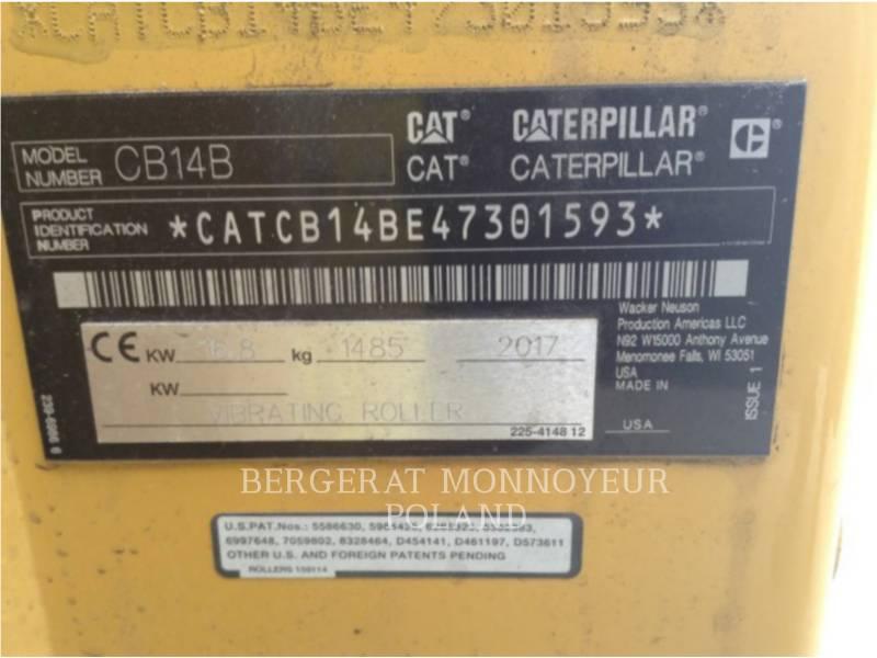 CATERPILLAR COMPACTADORES CB14B equipment  photo 4