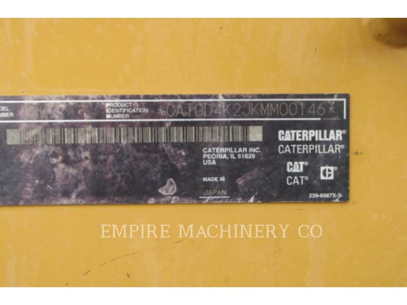 CATERPILLAR TRACK TYPE TRACTORS D4K CA equipment  photo 15