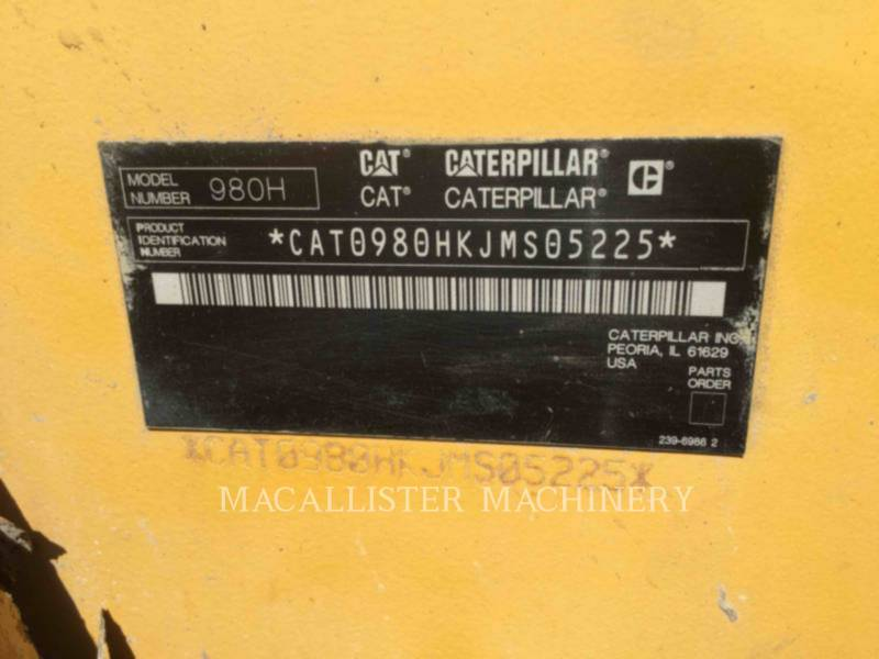 CATERPILLAR CARGADORES DE RUEDAS 980H equipment  photo 12