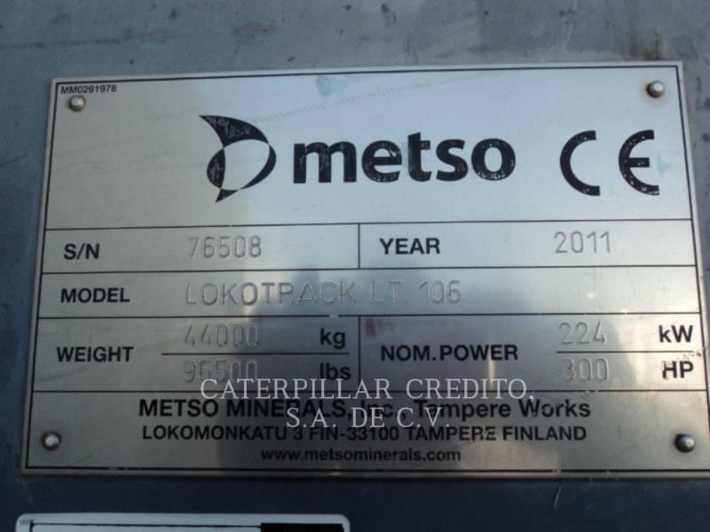 METSO CRUSHERS LT106 equipment  photo 2