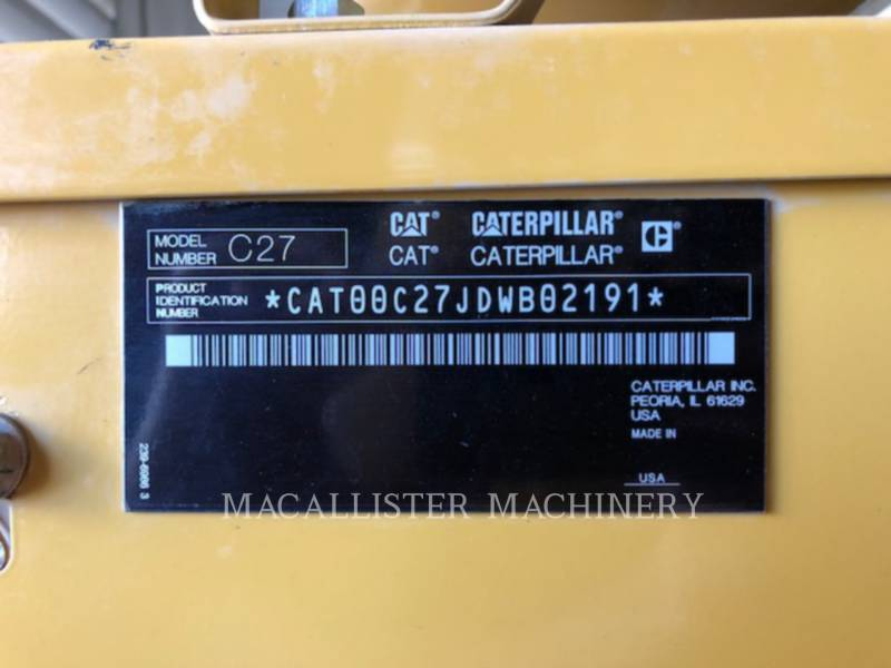 CATERPILLAR PORTABLE GENERATOR SETS C27 equipment  photo 9