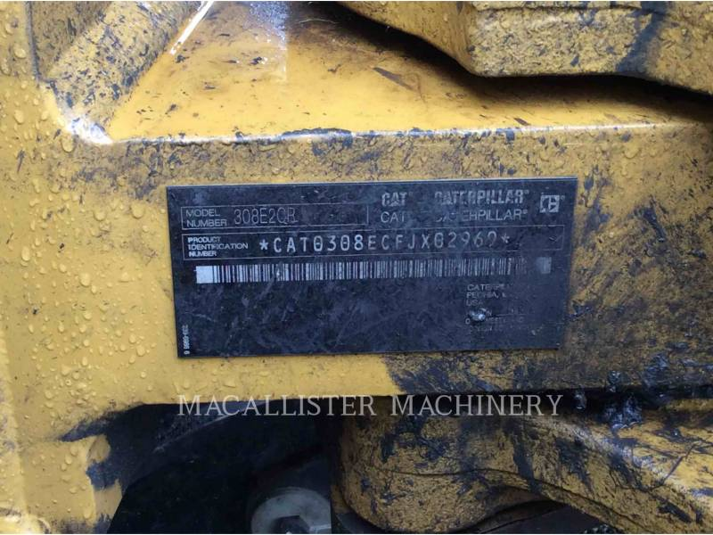 CATERPILLAR TRACK EXCAVATORS 308E2CRSB equipment  photo 5