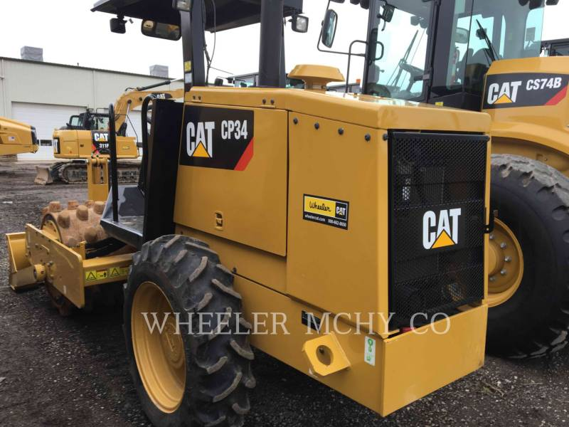 CATERPILLAR VIBRATORY SINGLE DRUM PAD CP34 equipment  photo 3