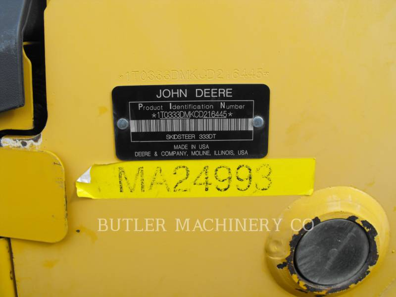 DEERE & CO. SKID STEER LOADERS 333D equipment  photo 6