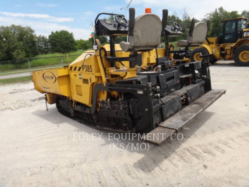 WEILER ASPHALT PAVERS P385A equipment  photo 3