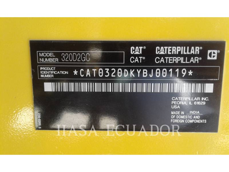 CATERPILLAR ESCAVATORI CINGOLATI 320D2GC equipment  photo 5